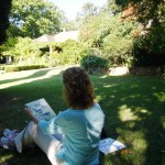 Sketching at Delheim