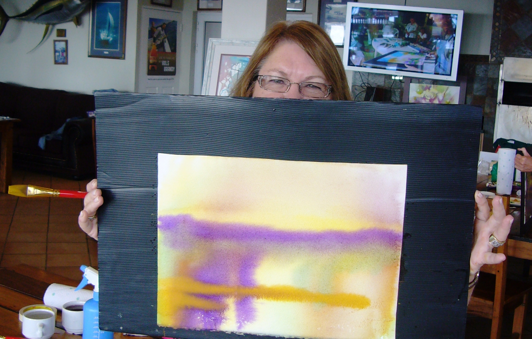 Lynne's beginning painting - glowing with life