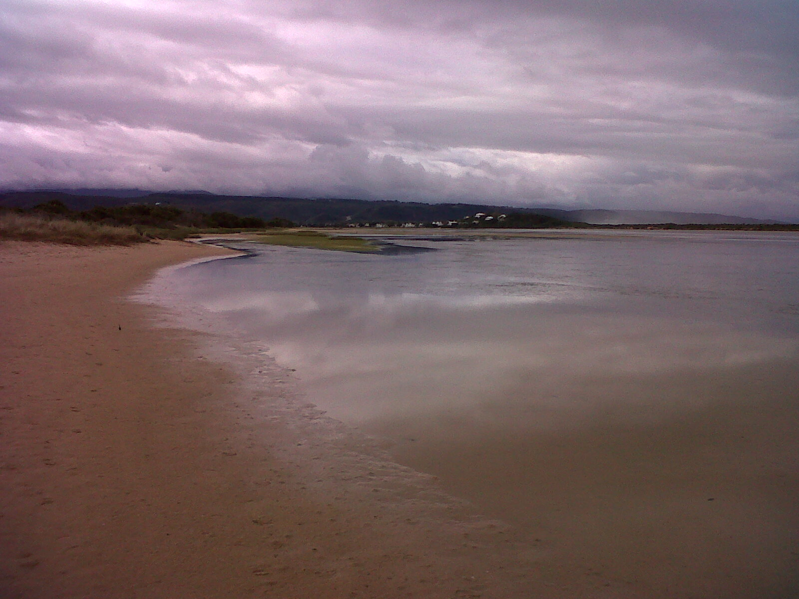 Plettenberg Bay Lagoon before the storm changed its face