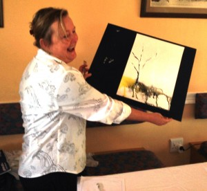 Cathy Henderson started her first step into her glorious future in water colours.
