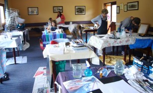 Art Workshop Country Crescent Hotel Nov 2013 - Joy Truscott2