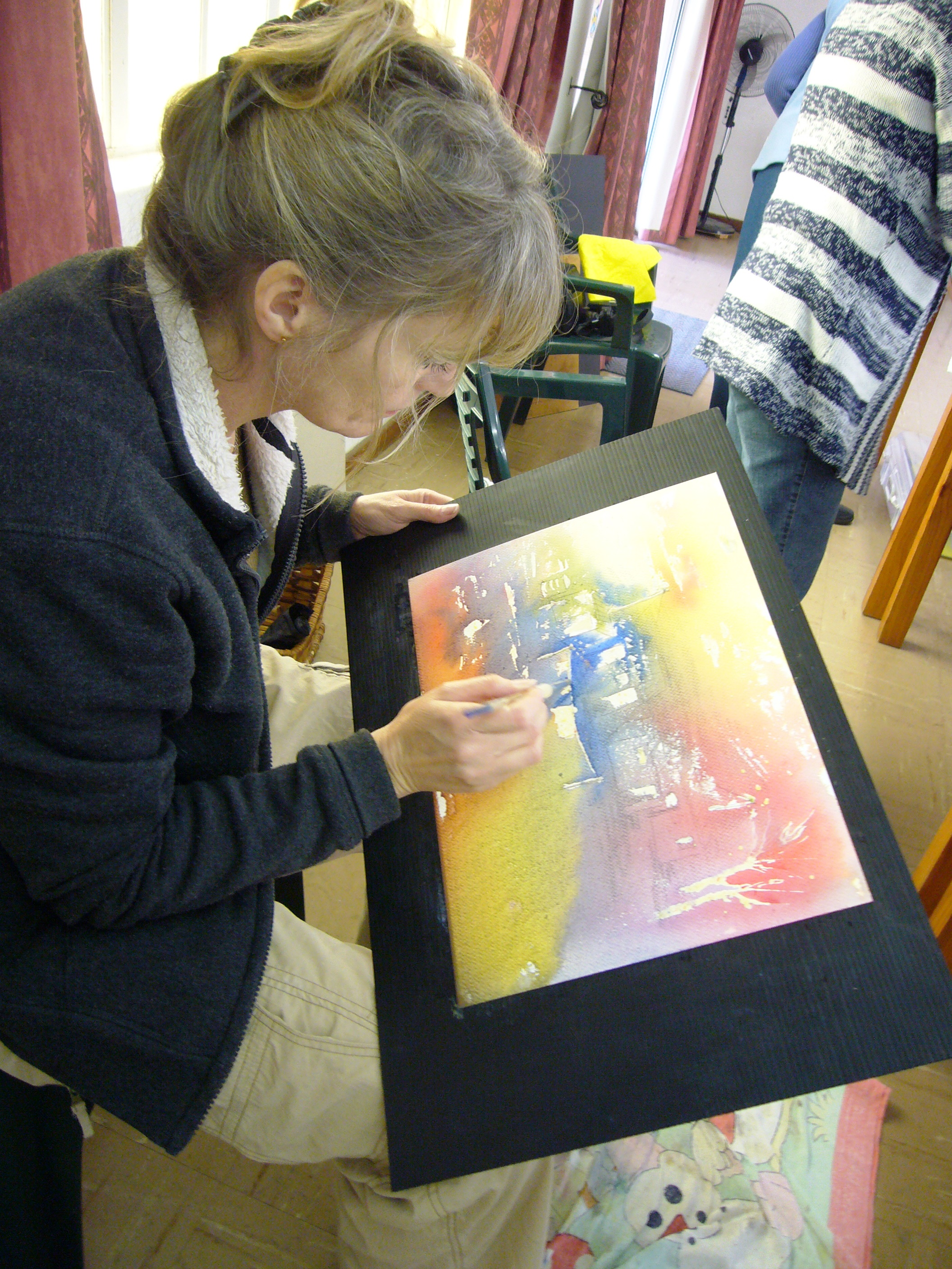 Irene Brand adding more lovely details to her beautiful beginning piece